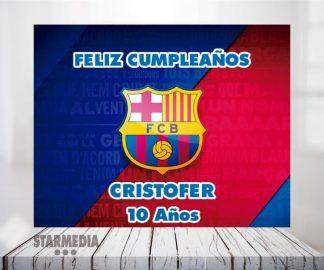 fondo deporte barcelona - decoración cumpleaños barca escudo