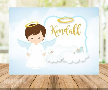 fondo bautizo silueta angelito