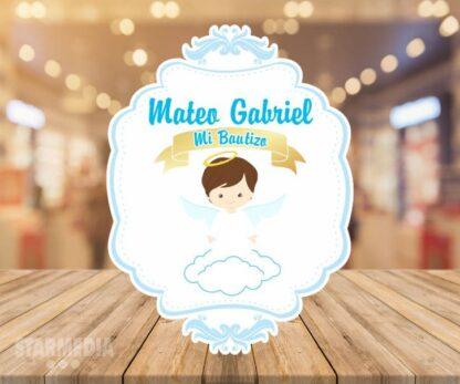 fondo bautizo ángel nube - decoración bautizo angelito
