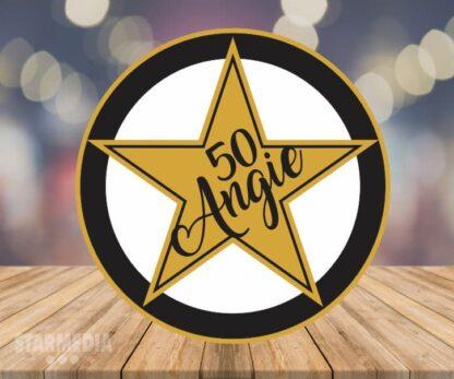 fondo cumpleaños estrella - decoración cumpleaños star gold
