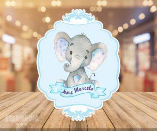 fondo baby shower elefante vintage - decoracion baby shower elefante plomo