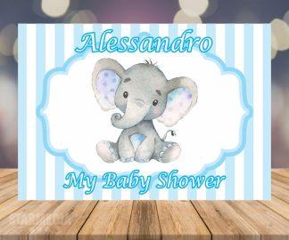 fondo baby shower elefante - decoracion baby shower vintage