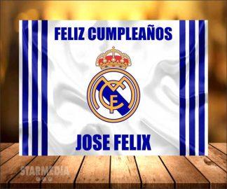 fondo deporte real madrid - decoración cumpleaños merengue madrilista